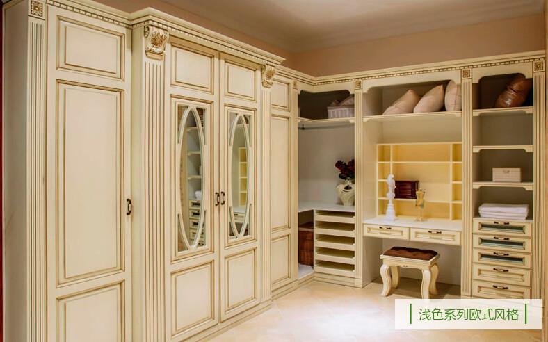 重庆欧式卧室实木定制整体衣橱衣柜