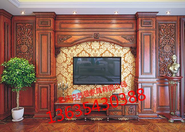 全屋定制家具-实木电视墙