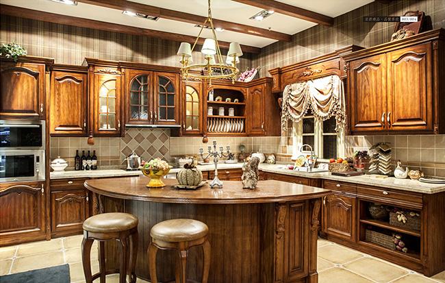 奢华实木家具橱柜样板展示