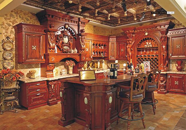 高端实木家具橱柜定制样板